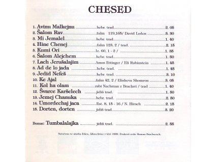 CHESED - Židovské písně - CD